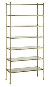 "Currey and Company 4132 Delano - 41"" Tall Etagere, Gold Leaf"