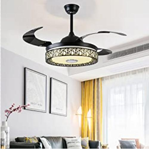 "42"" Bluetooth Invisible Fan Lamp Chandelier"