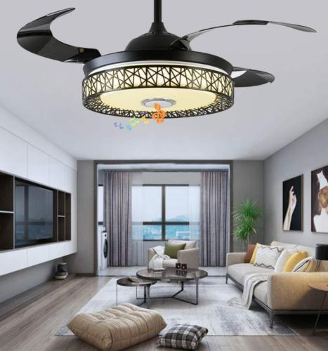 "42"" Invisible Fan 7-Color LED Chandelier"