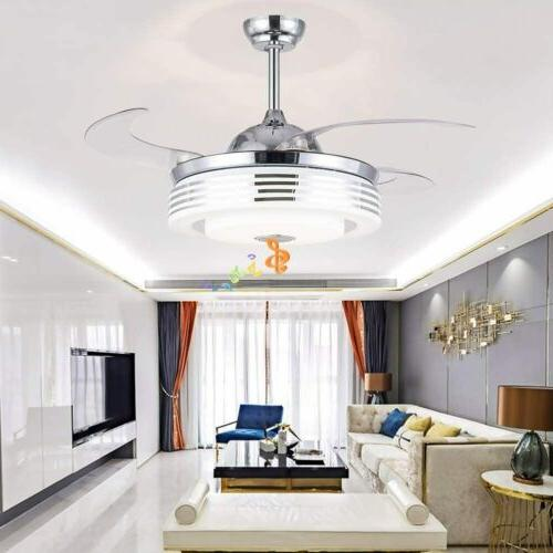 """42"""" Fan with Lights Bluetooth Remote"""