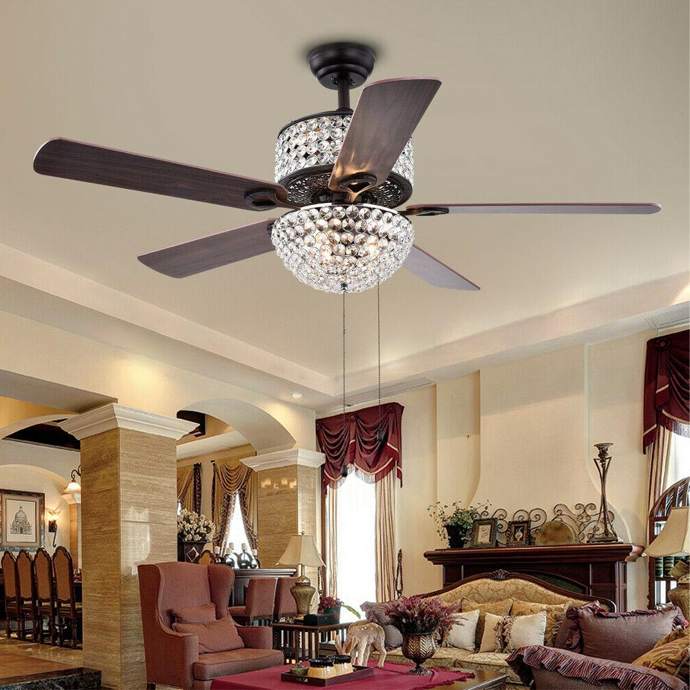 "52"" Ceiling with Light Dimmable Chandelier Blades"