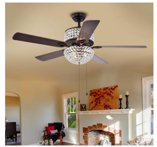 "52"" Ceiling Fans with LED Chandelier"