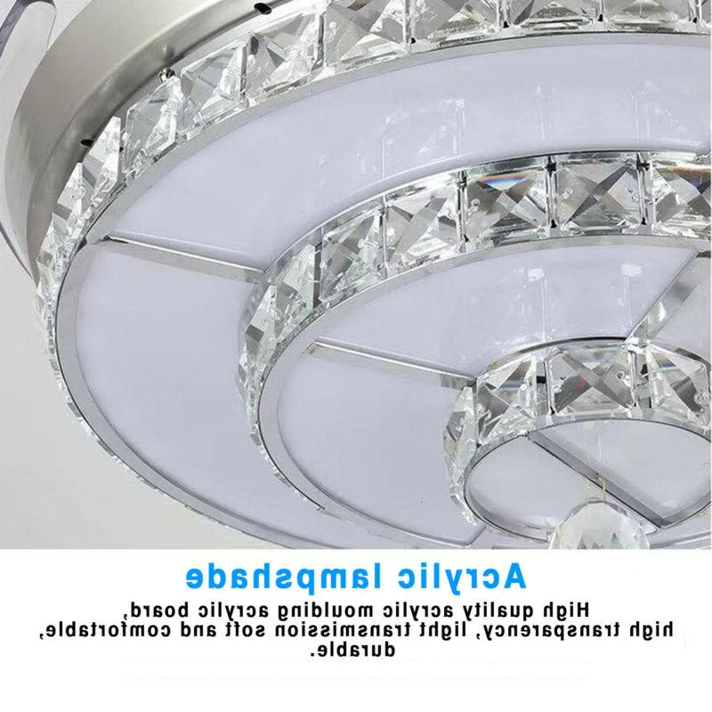 """42"""" Invisible Crystal Living Chandelier"""
