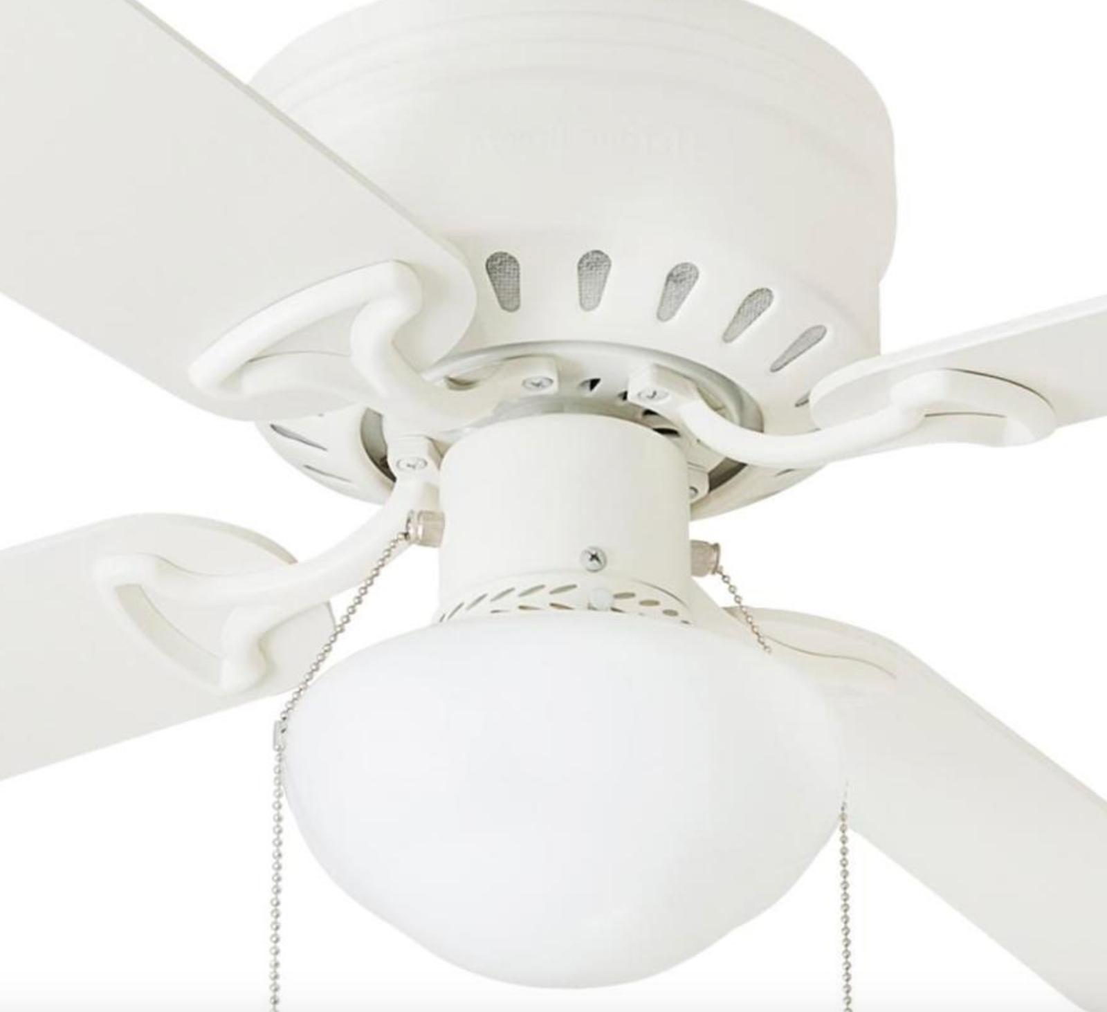 Harbor in WHITE Indoor Ceiling Fan with Light Kit ARMITAGE