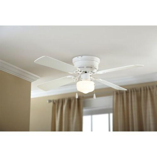 MainStays Flush Mount Ceiling White Finiish With 3 NEW