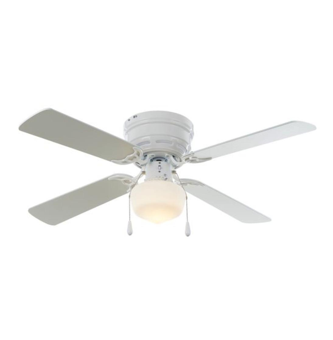 42 inch flush mount ceiling fan white
