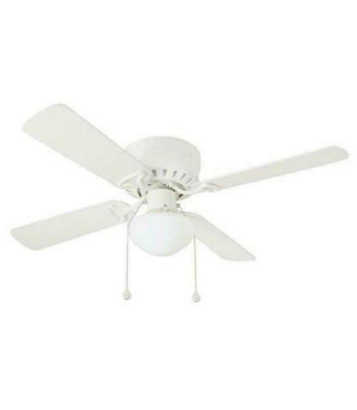 42 indoor white ceiling fan with light