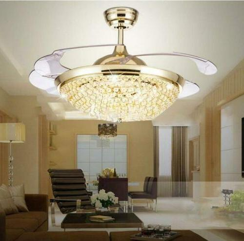 "Modern 42"" Invisible Remote Control Chandelier"