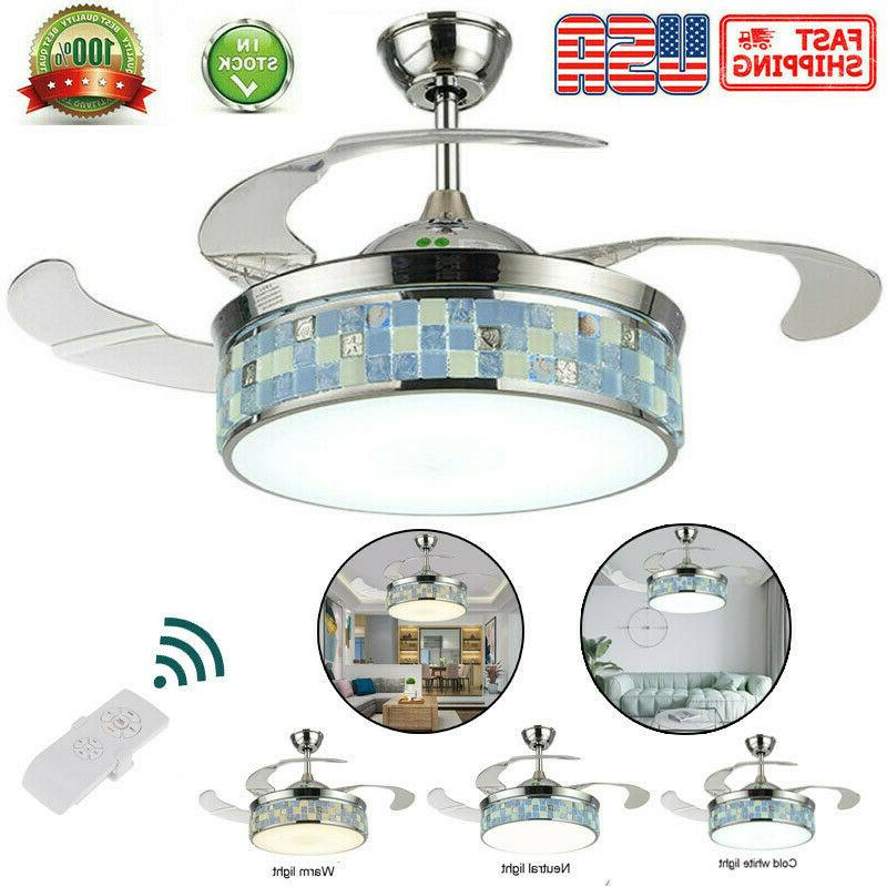 42 modern ceiling fan light led dimmable