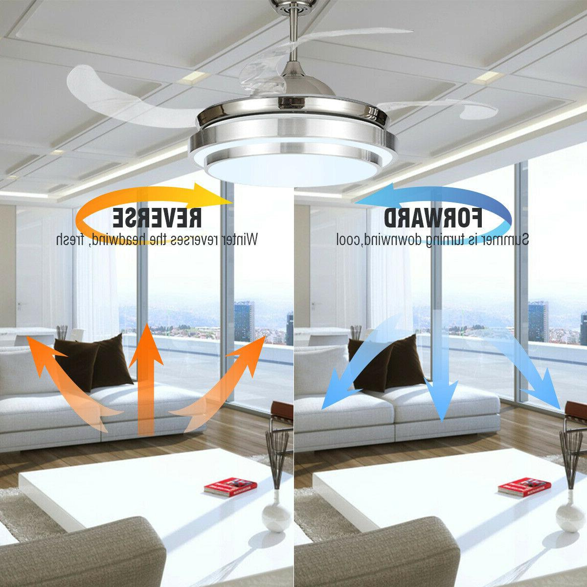 42 modern ceiling fan with led light