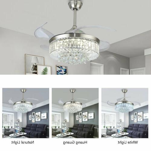 36 42 crystal ceiling fan chandelier