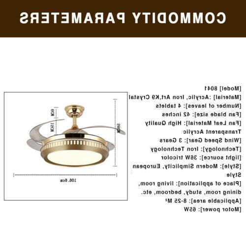 "42"" Retractable Ceiling Light Dimmable"