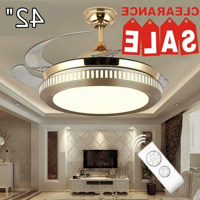 42 retractable ceiling fan light lamp remote