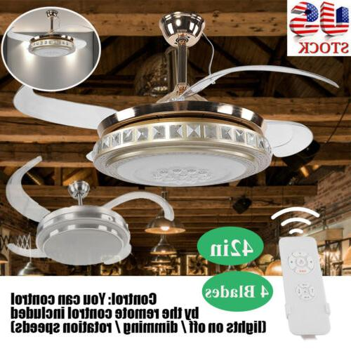 42 retractable ceiling fan light lamp w