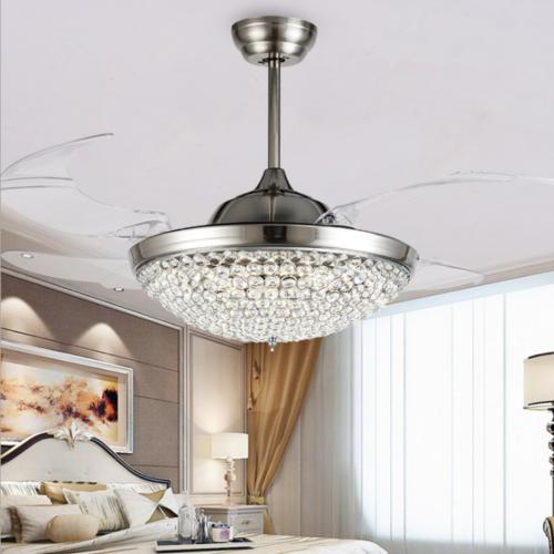 """42"""" with Modern Remote Chandelier Lamps"""