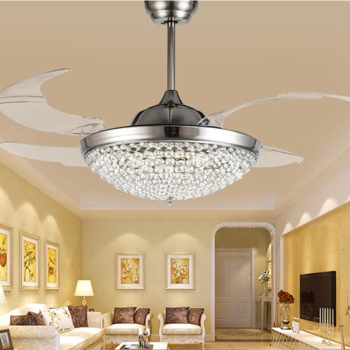 """42"""" Ceiling Fans with Lights Modern Remote Chandelier Lamps"""