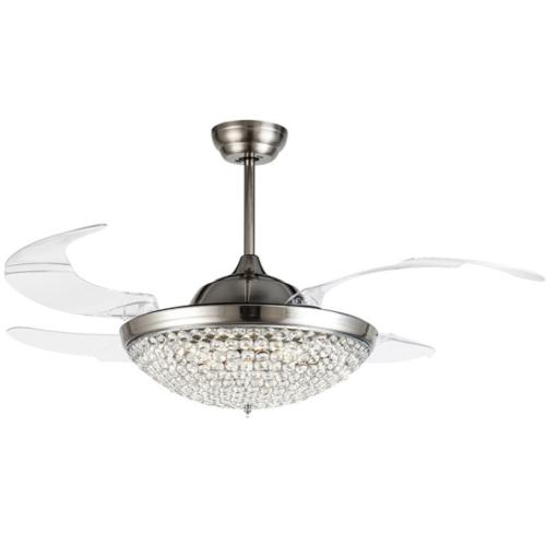 """42"""" Retractable with Lights Modern Remote"""