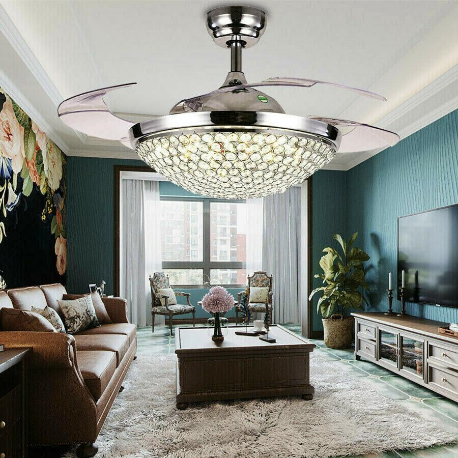 42 retractable ceiling fans with lights modern