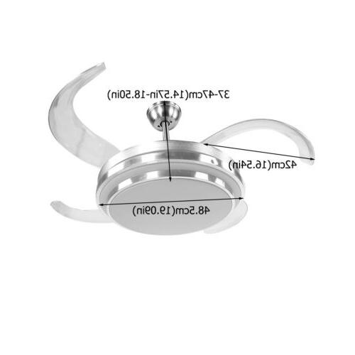 """42"""" Ceiling Lamp Remote Control LED Chandelier"""