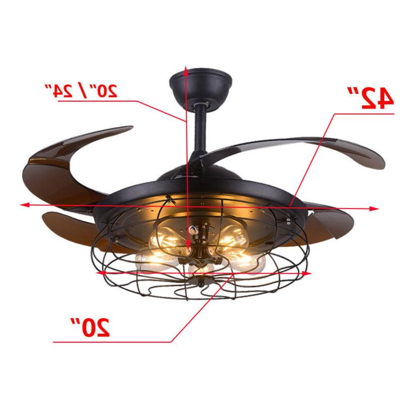 "42"" Reversible Flush Chandelier Remote Industry"