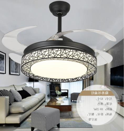 """42"""" 4 Retractable LED Crystal Chandelier Light"""
