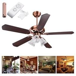 48/ 52 Opt 5 Blades Ceiling Fan with 3 Light 3 Speed Kit Ant