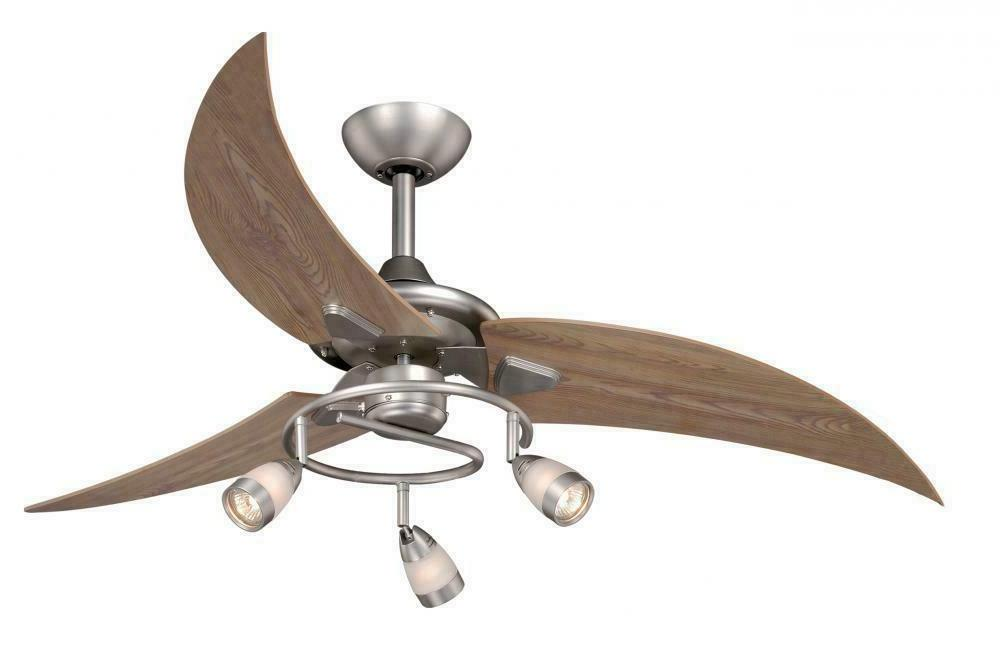48 Picard 3 Blade Ceiling Fan - Finish: Brushed Nickel