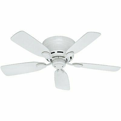 Hunter 51059 Low Profile IV 5-Blade Ceiling Fan, 42-Inch, Wh
