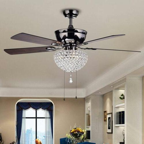 52 crystal ceiling fan chandelier light lighting