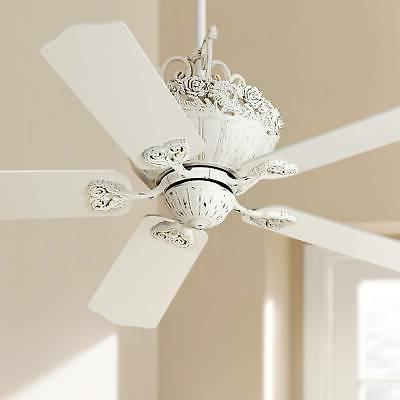 "52"" Casa Chic Rubbed White Ceiling Fan"