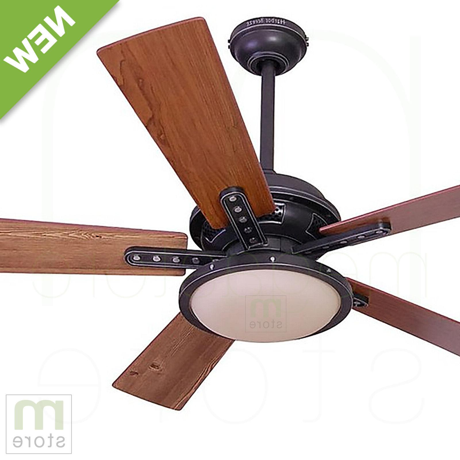 """52"""" Ceiling Fan with Light Remote Downrod Close Mount Comm"""