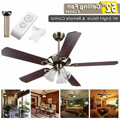 52 ceiling fan with light 5 blades