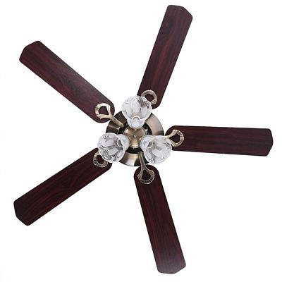 "52"" 5 Fan Antique Bronze Control"