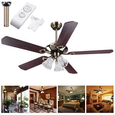52 5 blades ceiling fan with light