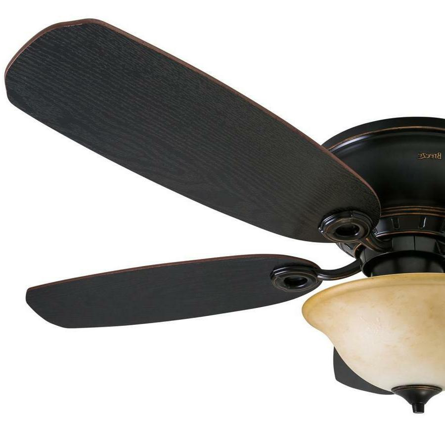 52-in Oil Rubbed Flush Mount Fan with and Remote