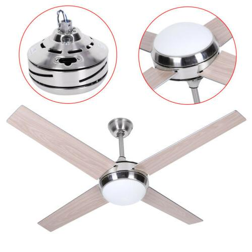 52 inch Blade LED Ceiling Fan with Remote Silver