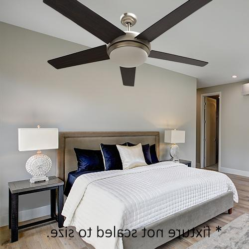 52 inch Ceiling Fan with Nickel and