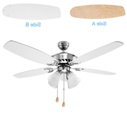 52 inch ceiling fan with five white