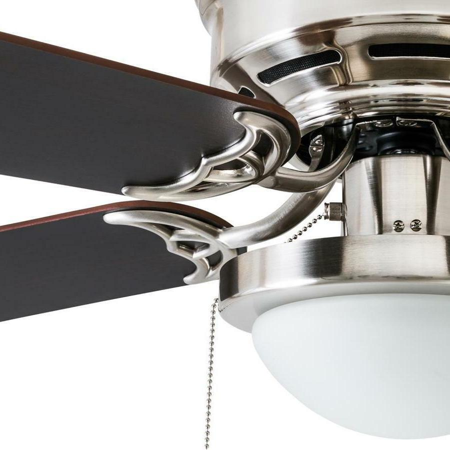 52-inch Fan Brushed Nickel Indoor Mount with Light