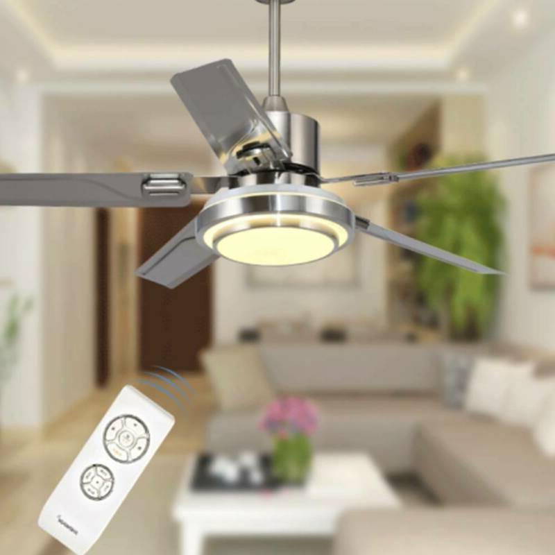 """52"""" Indoor Remote Ceiling Fan with Light 5 Blades"""