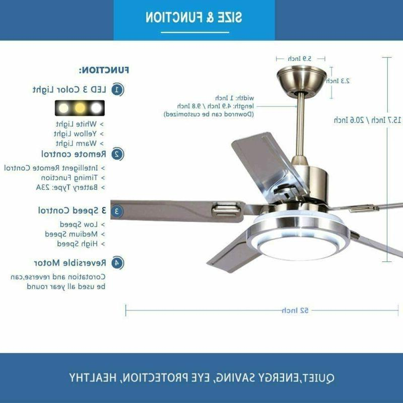 """52"""" Ceiling Fan with LED Light Control Blades"""