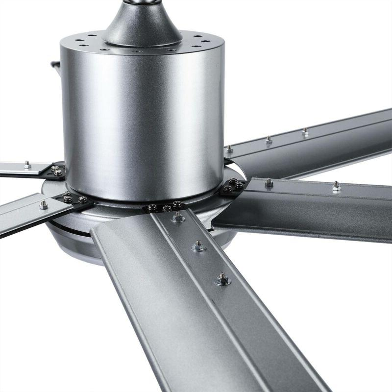 New 52''Industrial Ceiling with 6 Fan Blades &White Light