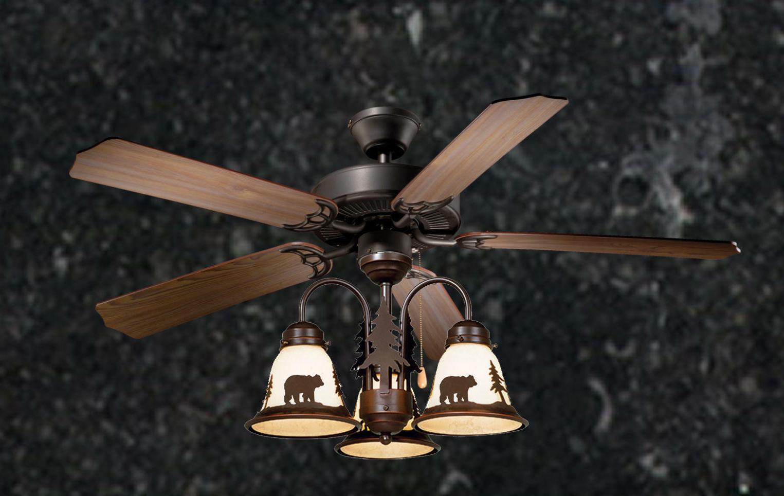 52 lodge rustic cabin country ceiling fan
