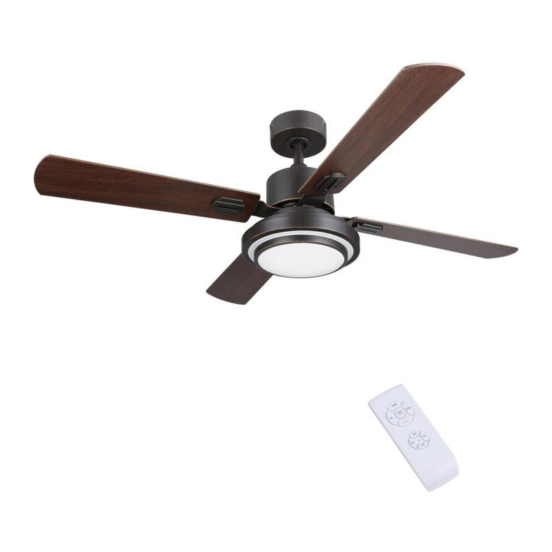 """52"""" Indoor Ceiling Fan LED Remote Control 3 4 6"""