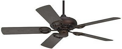 """52"""" Rustic Ceiling Oiled Bronze Wet Rated Patio"""