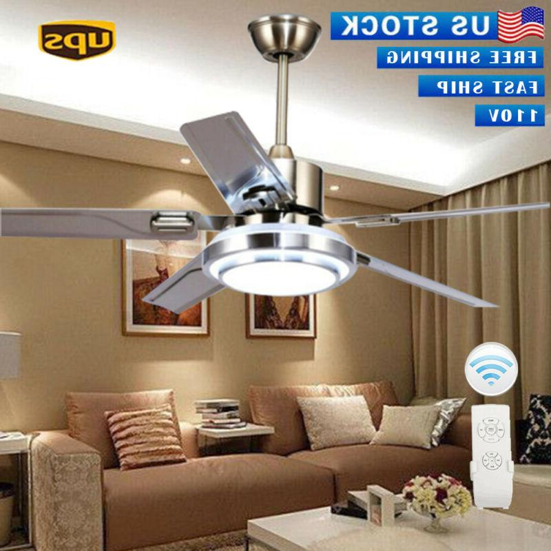 """52""""Control Remote Stainless Ceiling Chandelier Home Decor"""
