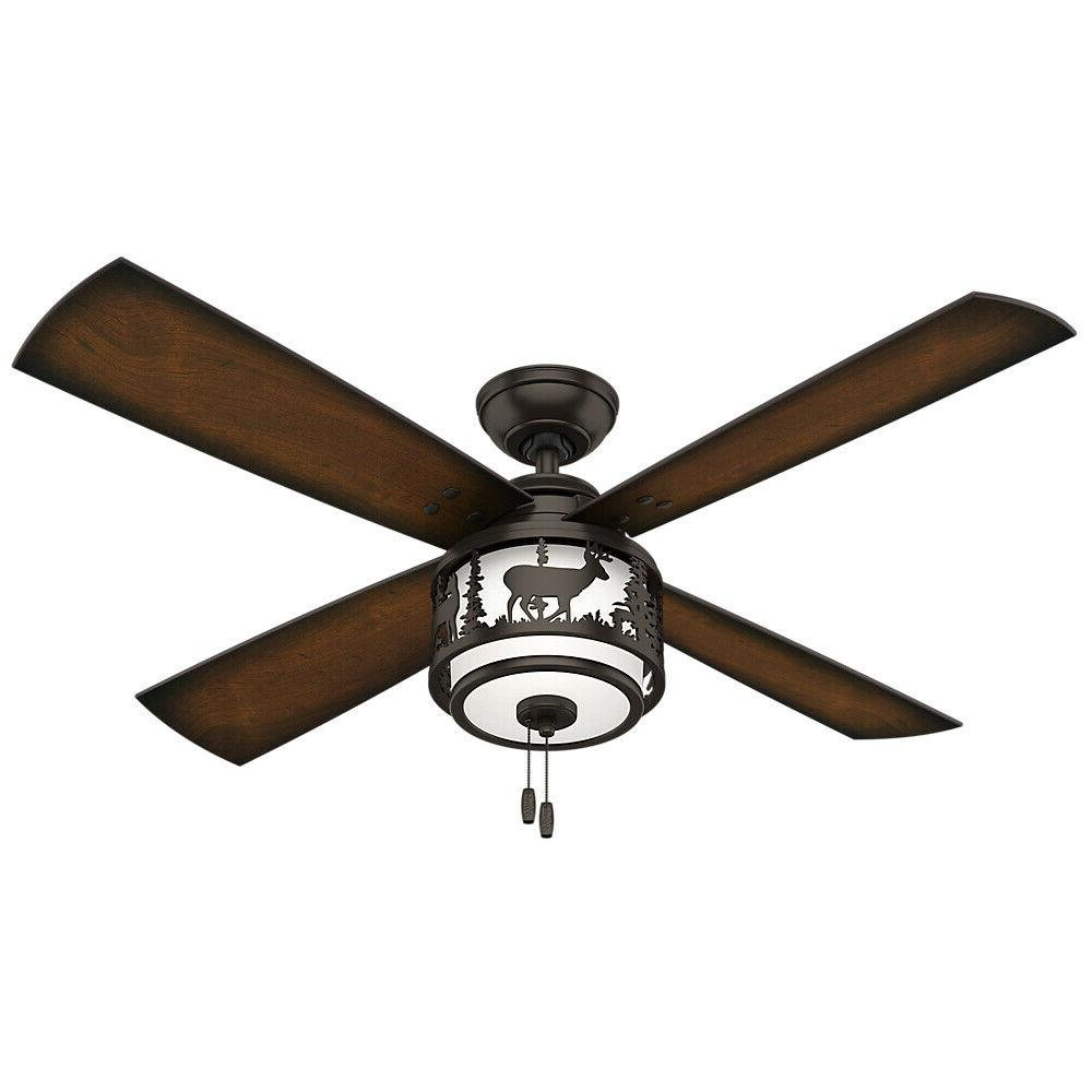 52 rustic lodge ceiling fan with light