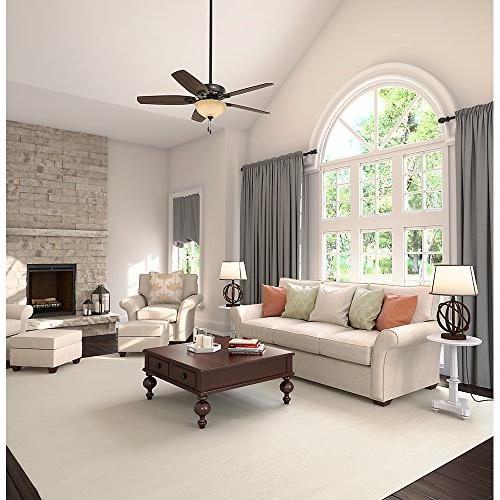 Hunter Builder Deluxe 52 in. Traditional Brazilian Cherry Indoor Ceiling Fan with 2 Lights