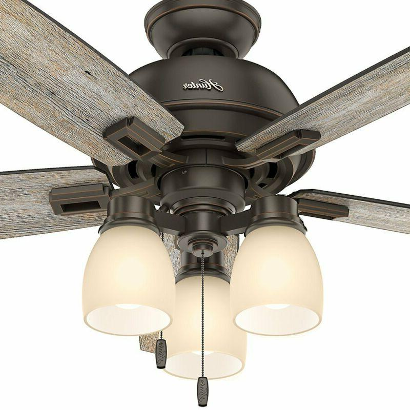 "Hunter Fan Company 53336 Hunter 52"" Donegan Bengal Ceiling Light,"