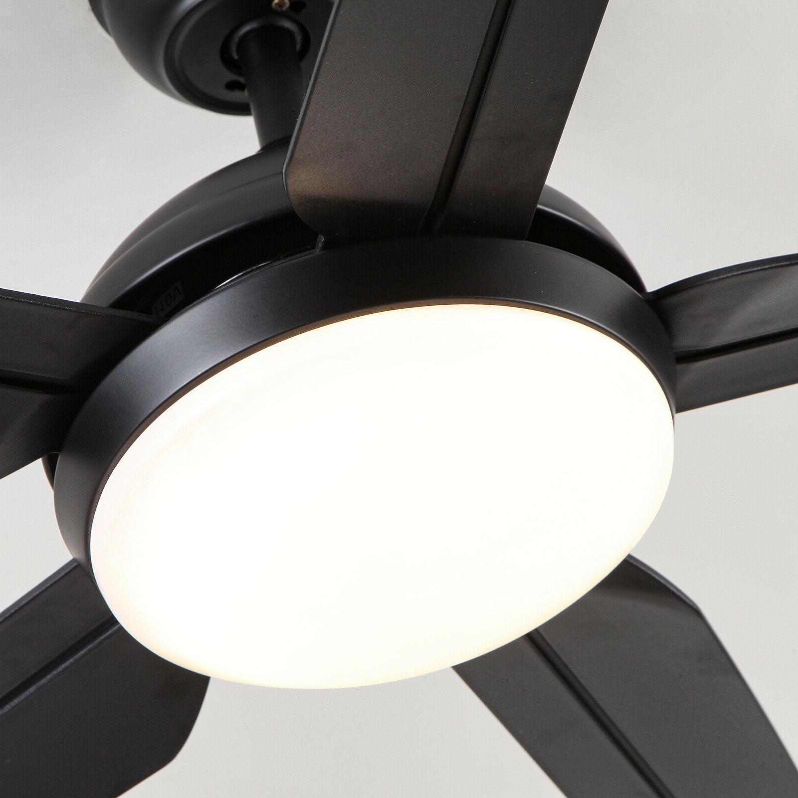 """54"""" Black Ceiling with Light Remote DC 3 color"""
